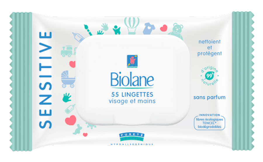 Image Lingettes Visage et Mains SENSITIVE