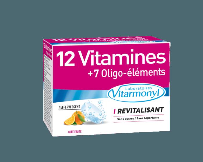 Image 12 vitamines + 7 Oligo-éléments Effervescent