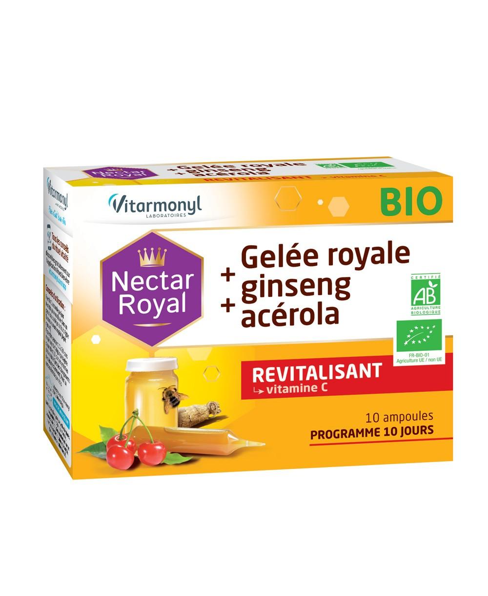 Image Gelée royale + ginseng + acérola BIO
